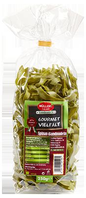 meine gourmets - Spinat-Nudeln